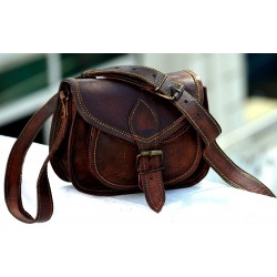 "9"" Leather Cross Body Bags Leather Sling Bag for Women Purse"