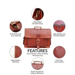 Harry Vintage Leather Shoulder Messenger bag