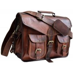 Daftar Multi Pocket Leather Briefcase Messenger Bag
