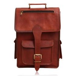Ethan Vintage 2 in 1 Leather Backpack Messenger Bag