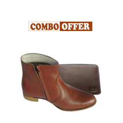 leather shoes & Belt Combo Offer
