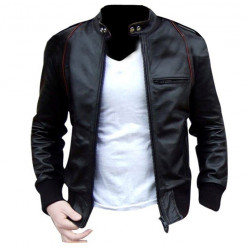 STYLISH GENTS FAUX LEATHER JACKET