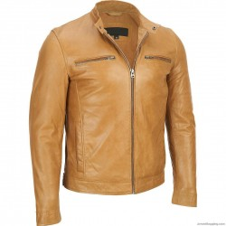 Kenya Amber Leather Jacket