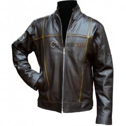 Saddle Leather Roan Gray Leather Jacket
