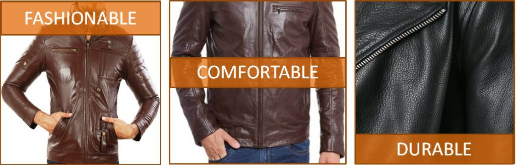 fashionable leather jacket